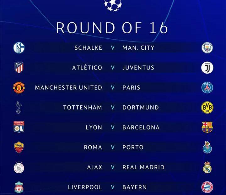 Champions League 2019 Calendrier.Calendrier Foot 2019 Can Ligue Des Champions Ligue Des